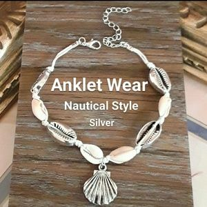 Jewelry - NEW Silver Summer Fun  Nautical Anklet